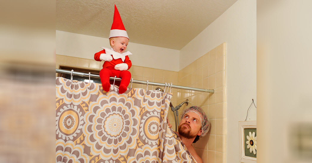 Dad Turns Baby Into A Real Life Elf On The Shelf Viralslot