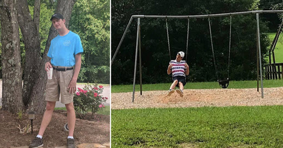 Company Builds A Custom Swingset For Man With Autism Because